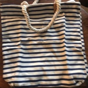 Cream and Blue Tote by Summer & Rose